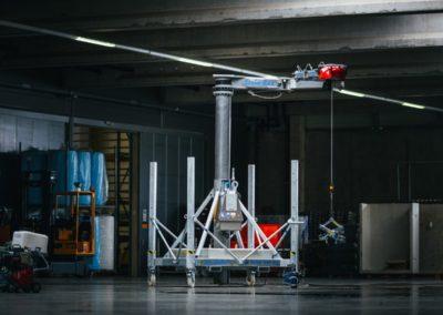 Steinrex Minikran, der innovative Stein-Rex Kleinkran mit teleskopierbarem Turm