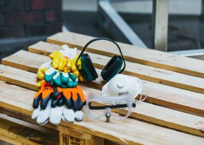 Arbeitsschutz - Gehörschutz +  Schutzbrillen +  Arbeitshandschuhe + Feinstaubmaske