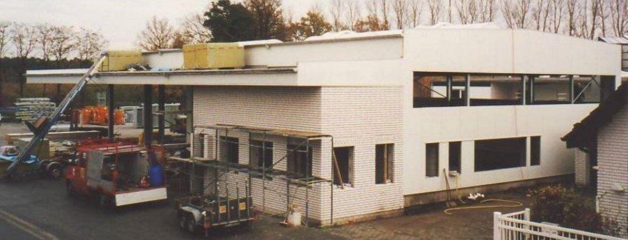 Neubau der Werkstatt der Stelter Bautechnik im Jahre 2002
